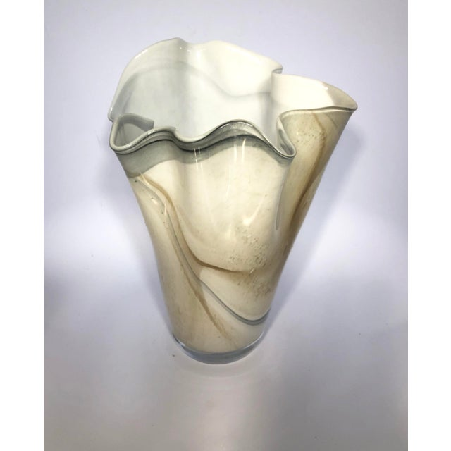 Hand blown glass handkerchief vase. This style was originally created by Paolo Venini, and was one of his most popular...