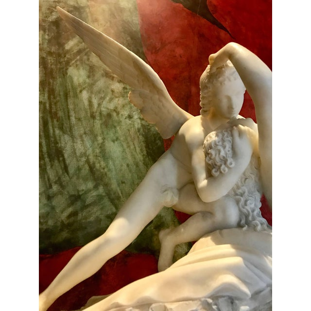 Neoclassical Sculpture of Amor and Psyche For Sale - Image 3 of 11