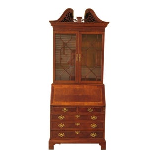 Mount Airy Federal Inlaid Mahogany Secretary Desk For Sale
