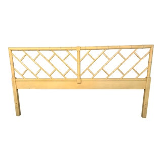 Vintage Henry Link Chinese Chippendale King Size Headboard For Sale