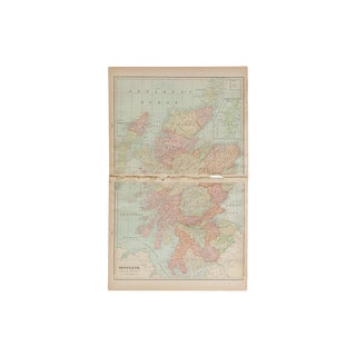 Cram's 1907 Map of Scotland For Sale