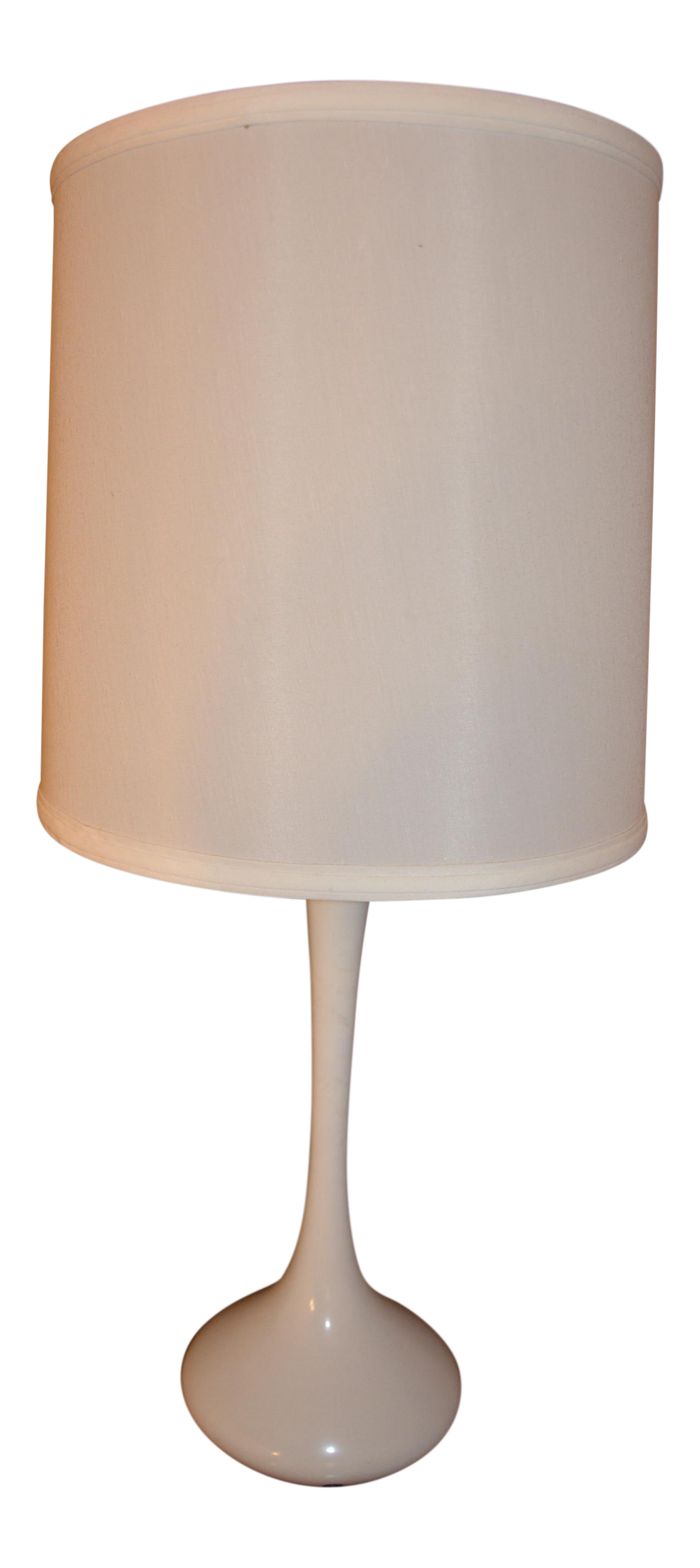 Captivating Mid Century Modern Tulip Table Lamp By Laurel Lamp Co. In White