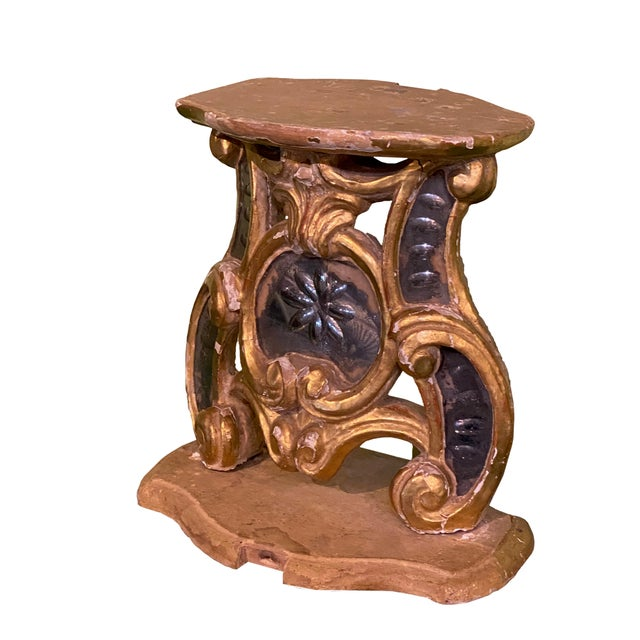 Italian 18th Century Carved Wood Stand For Sale - Image 3 of 6