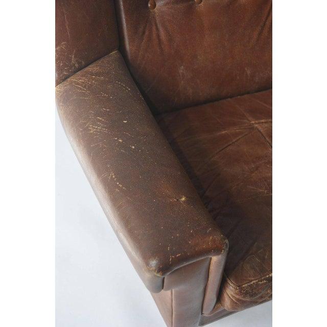 High Back Danish Lounge Chair - Image 4 of 7