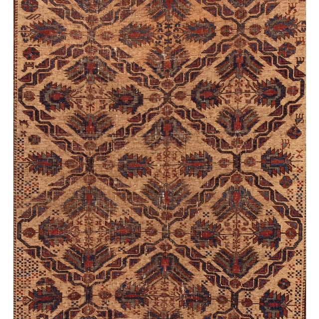 Antique Square Persian Afshar Handmande Wool Rug For Sale In New York - Image 6 of 7