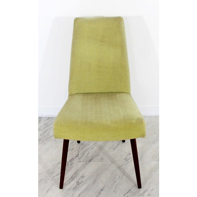 Fabric Mid Century Modern Adrian Pearsall Compass Dinette Dining Table & 4 Chairs 1960s For Sale - Image 7 of 12