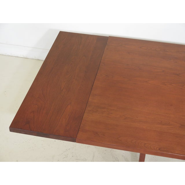 1990s Vintage Stickley Cherry Mission Style Cherry Dining Room Table For Sale - Image 10 of 12