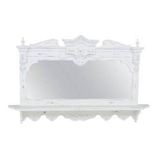 Swedish Style Hanging Mirror With Shelf For Sale