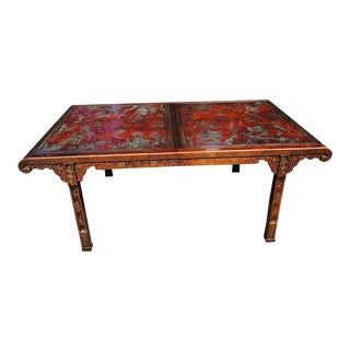 1970s Vintage Drexel Chinoiserie Dining Table For Sale