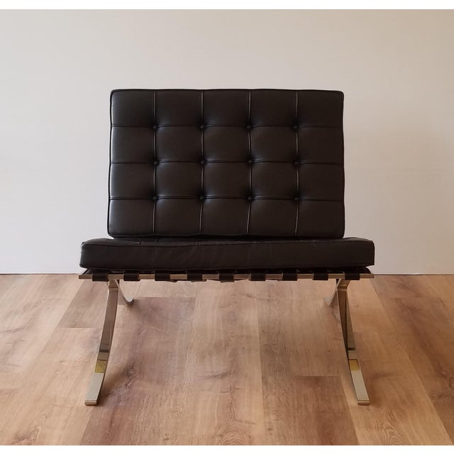 Knoll 1970's Vintage Barcelona Chair by Knoll - a Pair For Sale - Image 4 of 13