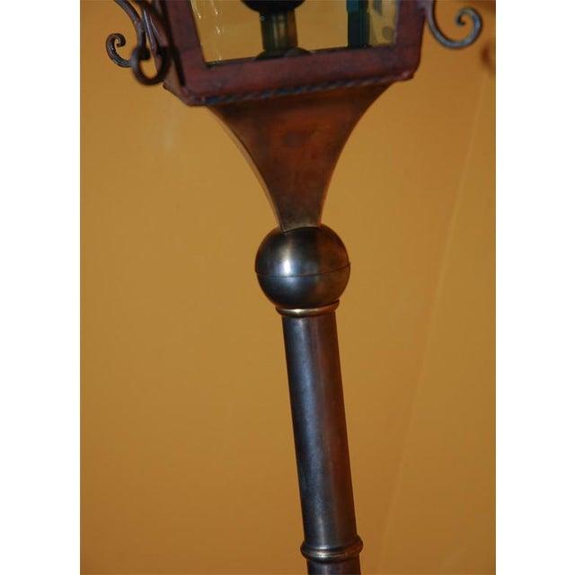 1950s Italian Brass Wall Lantern For Sale - Image 5 of 9