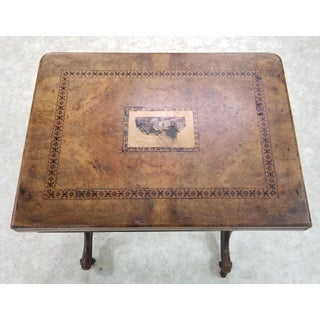 Antique Inlaid English Game Table Preview