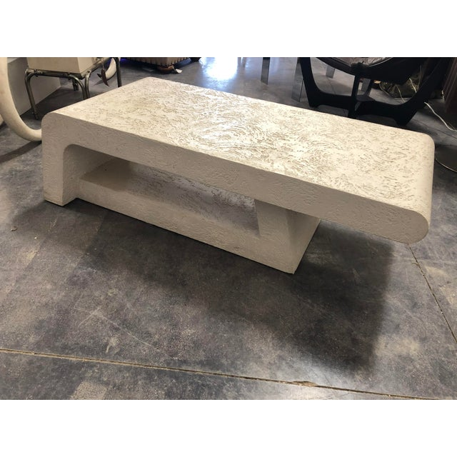 1980's Plaster Coffee Table/Bench For Sale - Image 4 of 8