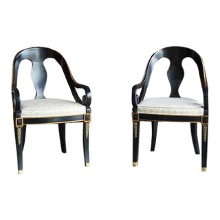 Karges Neo Classic Dining Chairs - a Pair For Sale