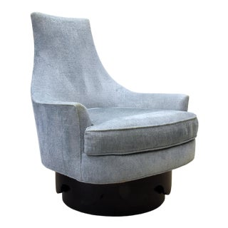 1960s Vintage Craft Associates Adrian Pearsall High Back Swivel Chair For Sale