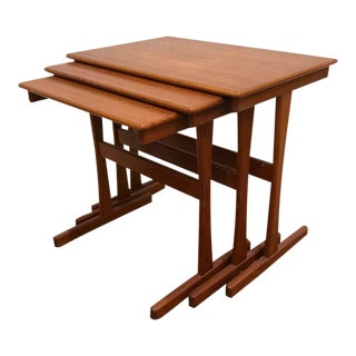 Danish Modern Teak Nesting Tables by Arne Wahl Iversen - Set of 3