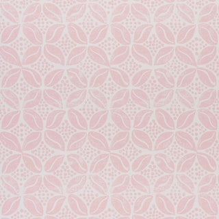 Sample - Schumacher x Molly Mahon Coffee Bean Wallpaper in Pink For Sale