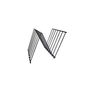 François Arnal Z-Form Mid-Century Modernist Magazine Rack   Zig Zag Wire Record Holder For Sale