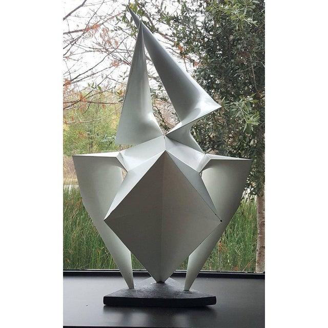 1960s Vintage Abstract Origami Sculpture by Artist Edward D Hart For Sale - Image 5 of 11