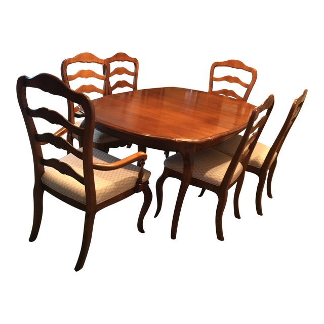 Ethan Allen French Country Dining Set - 7 Pieces For Sale