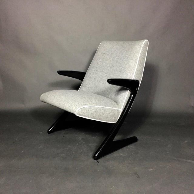 "Mid-Century Modern Bengt Ruda ""Z"" Ebonized Lounge Chair, Sweden 1950s For Sale - Image 3 of 8"