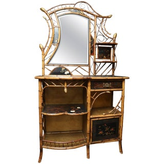 """""""Over the Top"""" 19th Century Bamboo Fantasy Sideboard"""