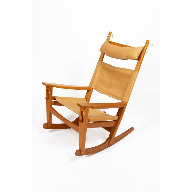Keyhole Rocking Chair by Hans Wegner For Sale - Image 13 of 13
