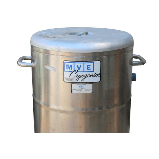 1960s Cryogenics Stainless Steel Nitrogen Storage - Image 2 of 5
