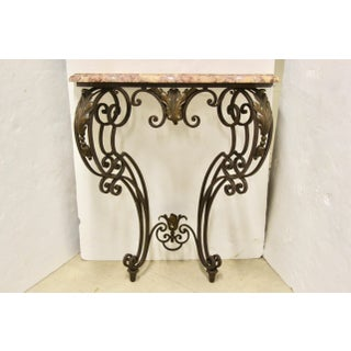 Wrought Iron Wall-Mounted Demilune Table Preview