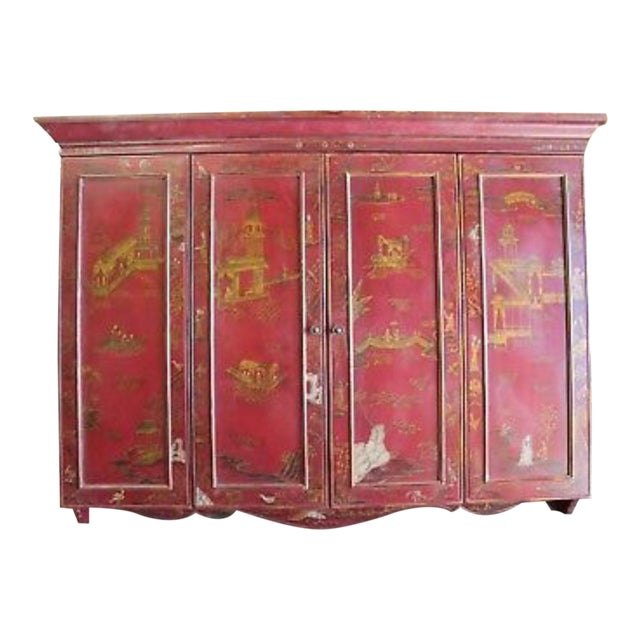 Maitland Smith Chinoiserie Wall Cabinet For Sale