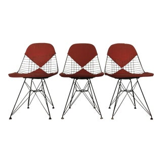 Eames DKR Black Wire Chairs - Set of 3 For Sale