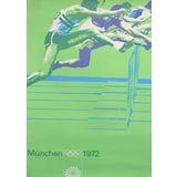 Image of Original Vintage 1972 Munich Olympic Poster, Athletics (Hurdles) For Sale