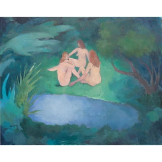 """""""Jungle Ladies"""" Contemporary Figurative Oil Painting on Canvas"""
