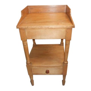 19th Century Country Maple/Pine Washstand For Sale