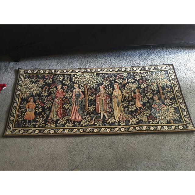 Vintage Point De Loiselles French Wall Tapestry - Image 2 of 7