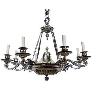 Mid 19th Century Large Silver Charles II Style Chandelier