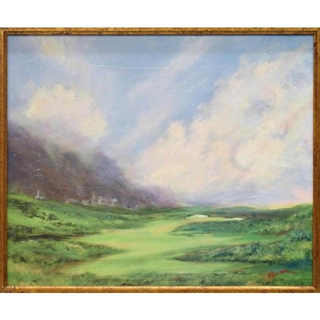 Framed Print and Painting, City Beyond the Green by M. Pearson For Sale In Denver - Image 6 of 6