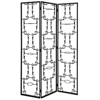 Mid-Century Modern Brutalist Abstract Room Divider Screen For Sale