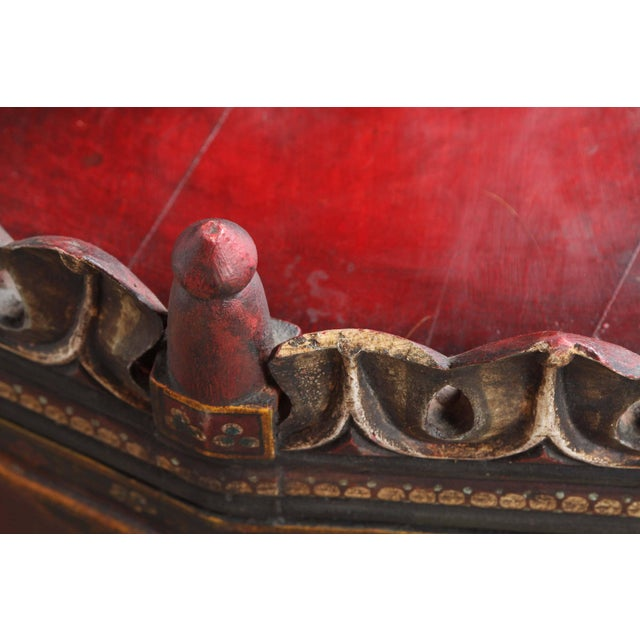 Early 20th Century 20th Century Anglo Indian Hand-Painted Teak Coffee Table For Sale - Image 5 of 10