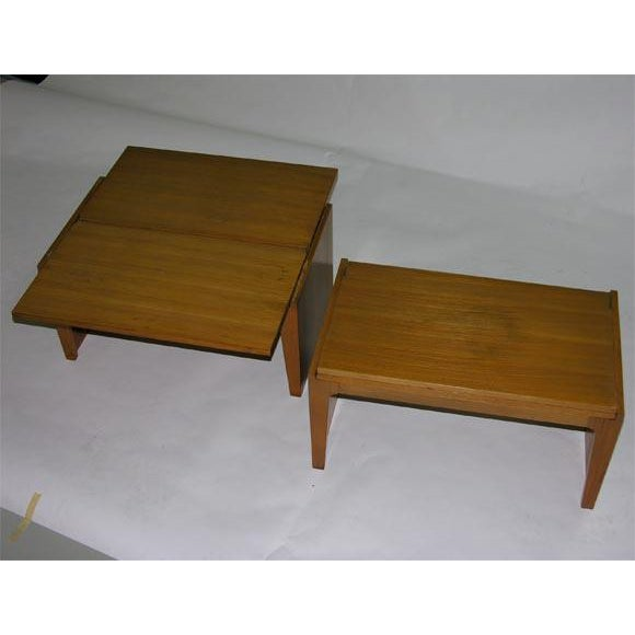 1940s Convertible Stacking Occasional Tables by Edward Wormley For Sale - Image 5 of 6