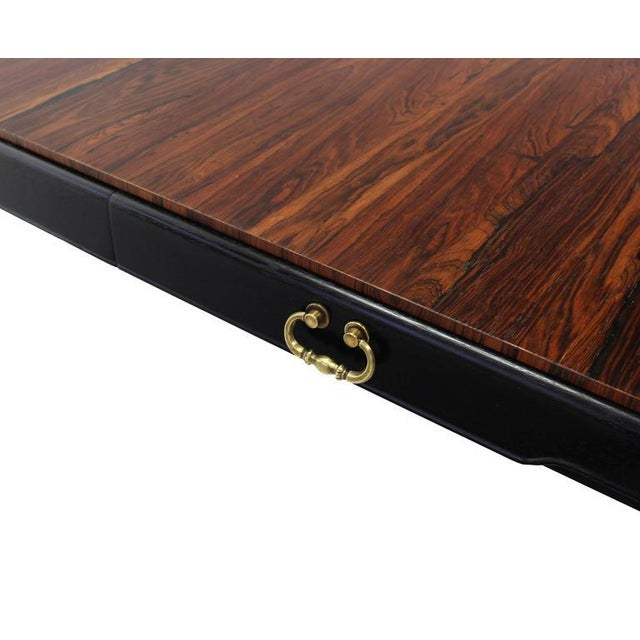 Tomlinson Rosewood Top Mid-Century Modern Writing Table For Sale - Image 4 of 8