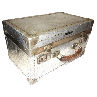 German Metal Cinematographers Camera Case circa Mid-20th Century. Gorgeous Patina, Hammered Metal Finish. For Sale