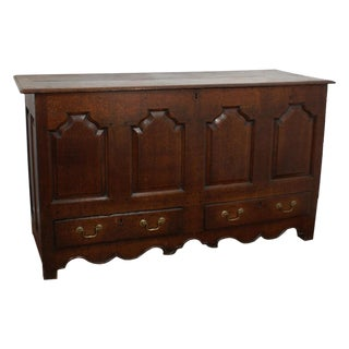Mid 18th Century George II Oak Paneled Mule Chest For Sale