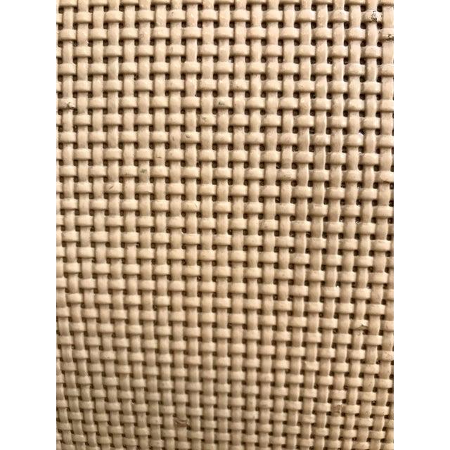 Mid Century Cream Raffia Console/Sofa Table For Sale - Image 10 of 11