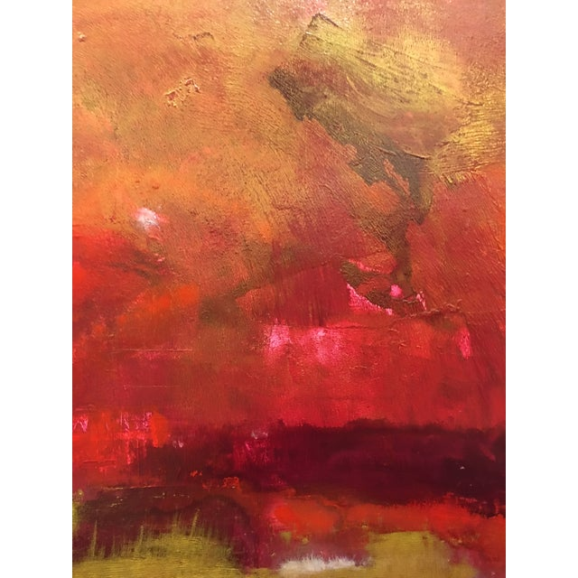 Firestorm Original Acrylic Abstract Painting For Sale - Image 4 of 5