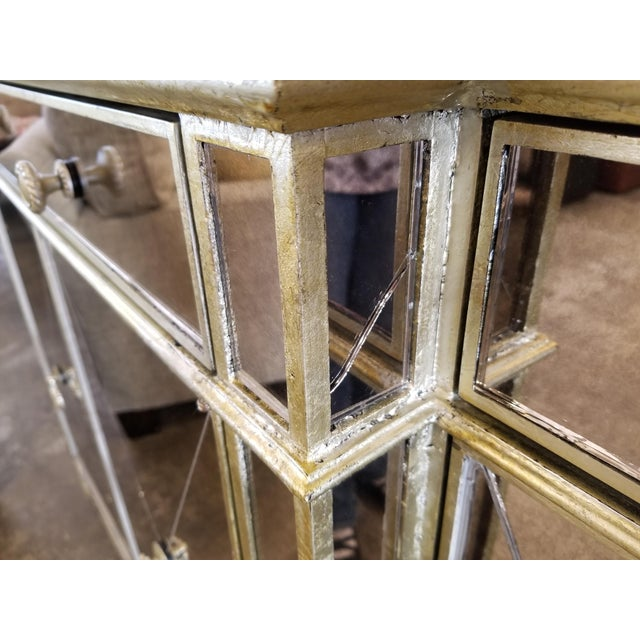 Gold Z-Gallerie Borghese Mirrored Buffet For Sale - Image 8 of 10
