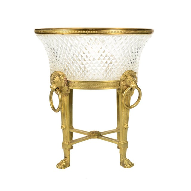 Mid 19th Century Austrian Crystal & Gilt Centerpiece For Sale - Image 5 of 9