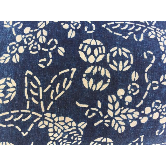 2010s Indigo Batik Koi Fish Pillow For Sale - Image 5 of 6