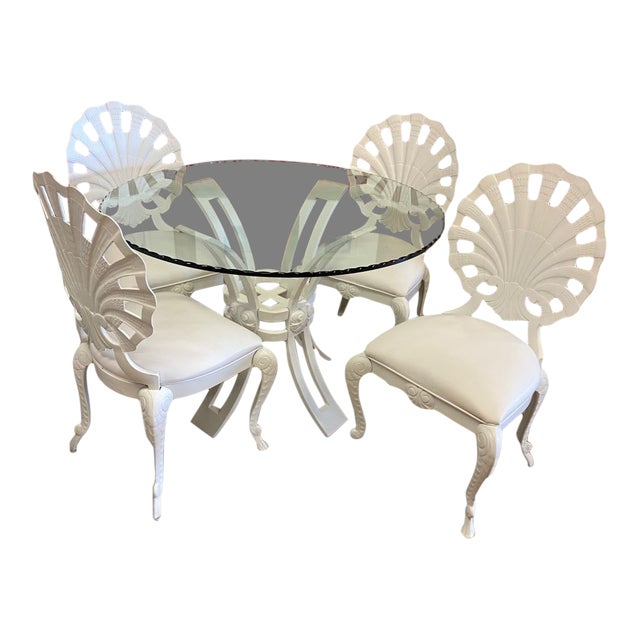 Brown Jordan Grotto Dining Set - 5 Pieces For Sale