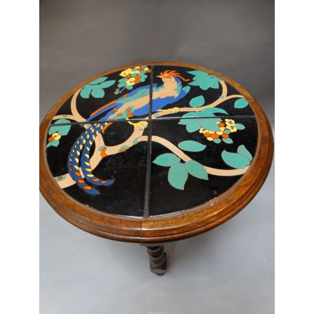 Pheasant Pond Round Taylor Tile Table - Image 3 of 5
